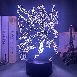 Anime Demon Slayer Lamp Kimetsu No Yaiba Led Night Lightfor Bedroom Decor Light Kids Child Birthday Gift Agatsuma Zenitsu ...
