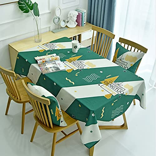 Serie Navideña Tema Mantel Impreso Hogar Impermeable Y Anti-Escaldado Tapete De Mesa Rectangular Multifuncional Mantel De Mesa De Café