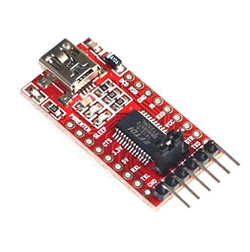 Frog Studio Home Qunqi 3.3V 5.5V FT232RL FTDI USB to Ttl Serial Adapter Module for Arduino Mini Port