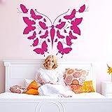 Modeganqingg Cartoon Schmetterling Muster Wandaufkleber Baby Kinderzimmer Schmetterling Tier Natur Wilde Tier Wandtattoo Schlafzimmer Vinyl 60 cm X 45 cm