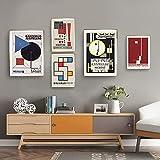 Bauhaus Abstrakt Geometrische Linienmuster Poster Bauhaus