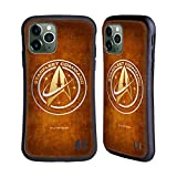 Head Case Designs Officially Licensed Star Trek Discovery Starfleet Distressed Badges Hybrid Case Compatible with Apple iPhone 11 Pro