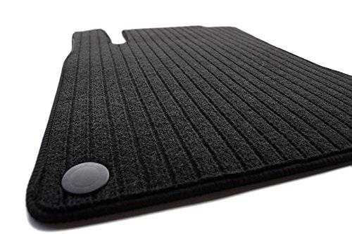 KH delen autovloermat platte dubbele rib, zwart