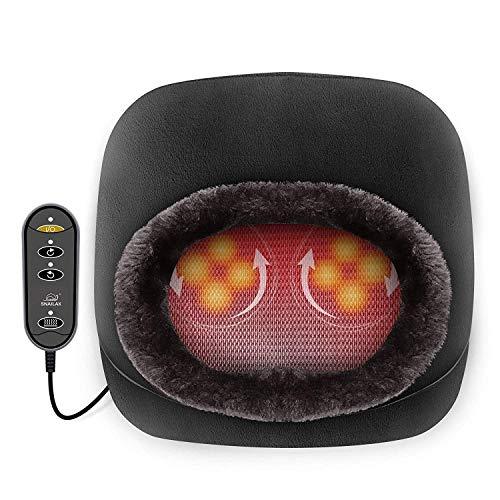 Snailax Elektrisch Shiatsu Fußmassagegerät mit Wärmefunktion, 2-in-1 Kneading Fussmassage oder Rückenmassagegerät mit Abnehmbare Oberfläche, Massagegeräte für Füße und Körper Zuhause Büro