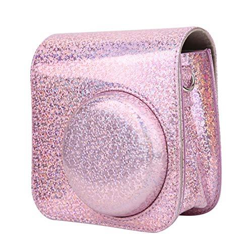 SALUTUYA Bolso para cámara Mochila para cámara Portátil, para Instax Mini 8/8 + / 9(Crystal Glitter)