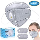 Anti Pollution Mask, N95 Particulate Respirator Dust Masks Disposable 20 Packs - Anti-Dust, Smoke, Gas, Allergies, Germs and Personal Protective Equipment for men and women