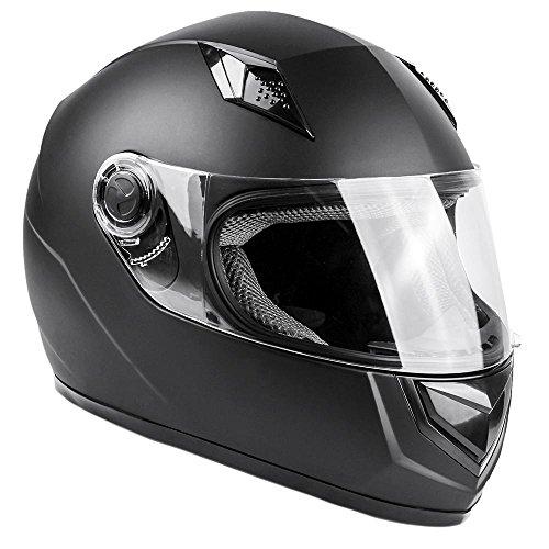 Typhoon Adult Full Face Motorcycle Helmet DOT - SAME DAY SHIPPING (Matte Black, XXXXL)