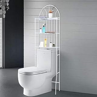 Estantería de baño de 3 pisos sobre el inodoro soporte para el baño de 3 estantes estantería para lavadora 1765 x 62 x...