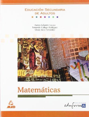 Matemáticas. Educación secundaria de adultos.