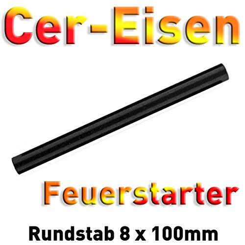 Grenhaven - Briquet en magnésium - Jusqu'à 15 000 allumages - 10 cm - Briquet Fire Starter Flint Stone - En acier, Stylo à feu XL