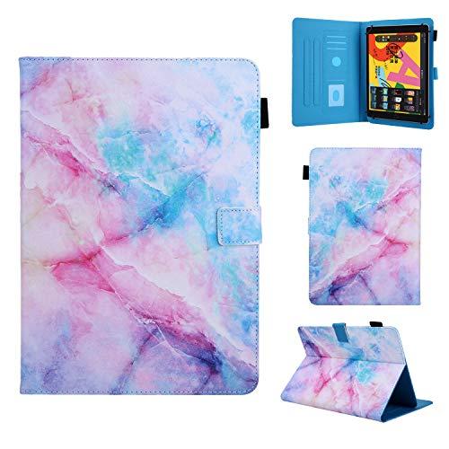 Funda Compatible con 9-10,5' Tableta, Carcasa Protección para Samsung Galaxy Tab A6 10,1'/A7 10,4', iPad 2/3/4, iPad 2018, Lenovo Tab M10/E10/P10, Huawei MediaPad T5/M5 Lite 10/MatePad T10S, Mármol