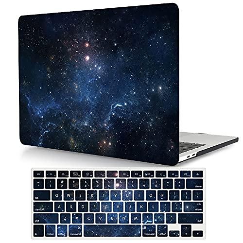 ACJYX Compatibile con MacBook PRO 13 Pollici Case 2020-2016 Versione A2338 M1 A2289 A2251 A2159 A1989 A1706 A1708, Plastica Custodia Rigida & Tastiera Cover - Nebulosa