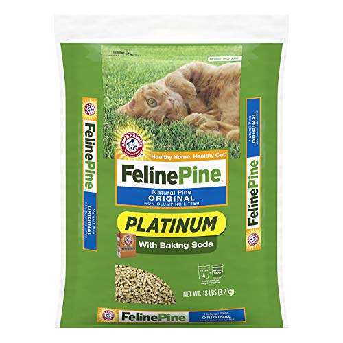 Arm & Hammer Platinum Natural Pine Original Non-Clumping Cat Litter, with Baking Soda, 18 lb
