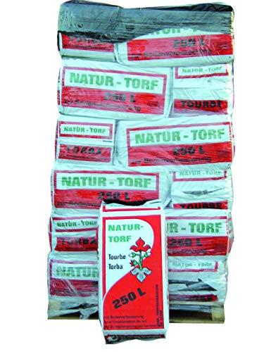 Torba per Giardinaggio Biologica Confezione 250 Litri Circa 30KG - Torba BIONDA 0-40 Natur Torf Sacco 250 Litri Ideale per Tutti i Tipi di Terreno