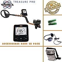 White 's Treasure Pro - Detector de metales, incluye casco, auriculares y bolsa