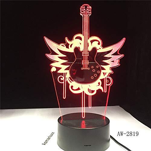Guitarra Volando bajo Rock música luz Nocturna para mú