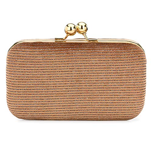 For The Beautiful You Women's Velvet Clutch (Peach)