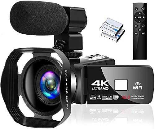 4K Camcorder Digital Camera Video Camera WiFi Vlogging Camera Camcorders with Microphone Full product image
