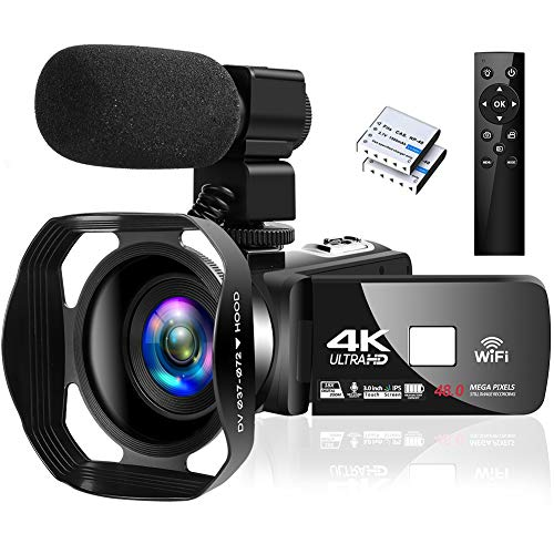 4K Camcorder Digital Camera Video Camera WiFi Vlogging Camera Camcorders with Microphone Full HD 1080P 30FPS 3