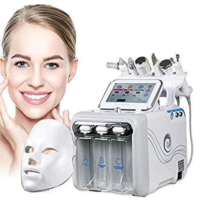 JJ.Yoma Hydrogen Oxygen Facial Machine, 7 in 1 Multifunctional Vacuum Face Cleaning Hydro Water Oxygen Jet Peel Machine Hydro-Dermabrasion Facial Sprayer