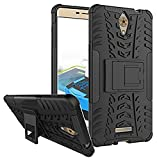 WOW Imagine Defender Tough Hybrid Armour Shockproof Hard PC + TPU with Kick Stand Rugged Back Case Cover for Coolpad Mega 2.5D - Black