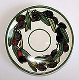 Las aceitunas-Plato de cerámica decorado a mano, diámetro 16 cm de alto 2.5 cm. Hecho en Italia, Toscana, Lucca. Creado por Davide Pacini.