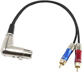 KESOTO XLR Female to 2 x RCA Male Plug Adapter Y Splitter Patch Cable Cord Adapter 33cm/13inch