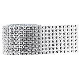 1 Rotolo Nastro di Strass Perline di Cristallo Vassoi Tovaglioli Materiale Fai-Da-Te per Casa, Feste, Ufficio - Argento