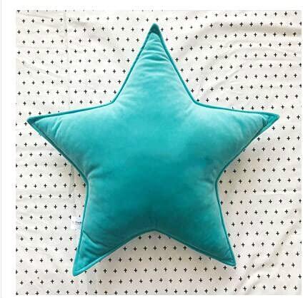 JSJJWSX Almohadas y cojines de tela de terciopelo de color sólido simple con forma de estrella, cojín de respaldo para interiores de cumpleaños (color: 9, especificación: 47 x 47 cm)