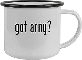 got arny? - Sturdy 12oz Stainless Steel Camping Mug, Black