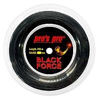 プロズプロ BLACK FORCE ブラックフォース 200Mロール 硬式テニス ポリエステルガット (21y4m) ゲージ:1.14mm ブラック
