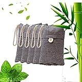 Tiamu Bolsas de Deshumidificador Natural, Bolsa de Carbón Activo De Bambú, Purificador de Aire Elimina el olor de carros, salones, cocinas, baños, armarios, zapatos, 5 paquetes