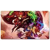 Warcraft96 – Juego de mesa de Warcraft tapete de mesa Wow juegos teclado Pad Tamaño 60 x 35 cm World of Warcraft Mousepad para Yugioh Pokemon MTG o TCG