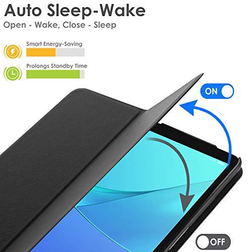 Forefront Cases Huawei Mediapad M5 8 Hülle - Magnetische Hülle und Ständer für Huawei Mediapad M5 8.4 Zoll 2018 Modell - Automatische Schlaf-Wach-Funktion - Dünn Leicht - Schwarz - 6