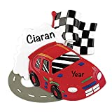 HolidayTraditions Race Car Track Personalized Ornament - Unique Christmas Tree Ornament - Special Keepsake - Custom Kids and Teen Decoration - Personalization Included