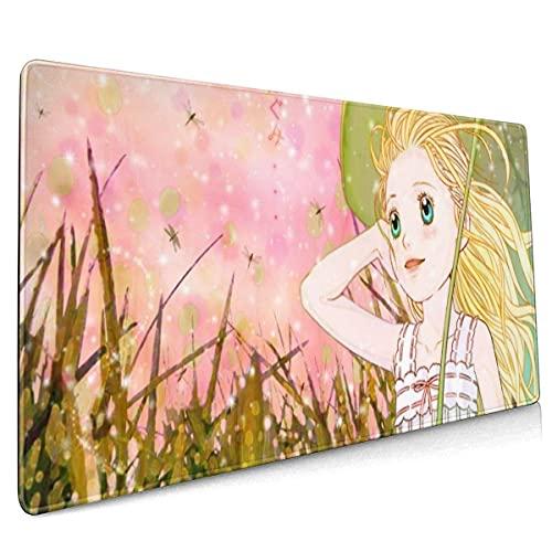 Mauspad Honig Und Klee Manga Gaming Mauspads Anti Rutsch Mausunterlage Für Laptop/Pc Geschenk Junge Mädchen, 30x80cm