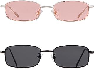 نظارات شمسية عصرية من Vintage Steampunk نظارات شمسية شفافة بإطار معدني نسائي