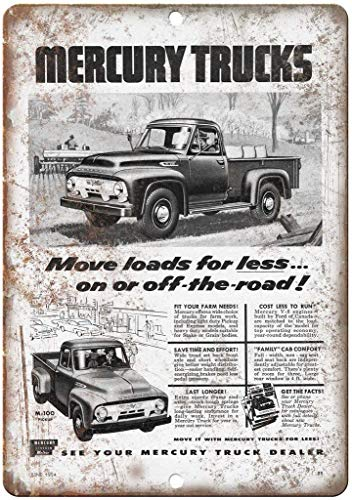 JUCHen Metal Sign for Wall Plaque Poster Cafe Bar Pub Gift 8 X 12 INCH Mercury Trucks M-100 Automobile