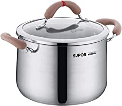 LJBH 304 Stainless Steel Soup Pot, 22cm, Universal For Induction Cooker high quality (Color : Silver, Size : 22cm)