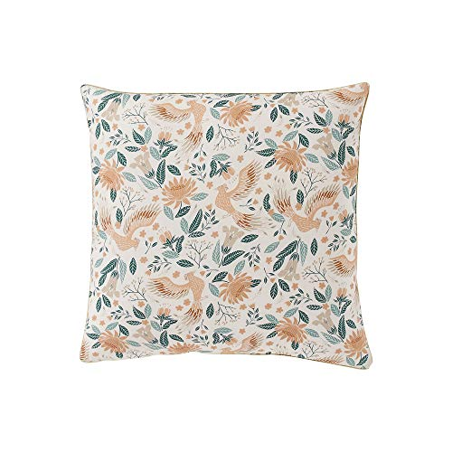 Essix Fabuleuse Taie d'oreiller, Percale de Coton, Multicolore, 65 x 65 cm