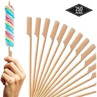 BRAMBLE! 250 Pinchos de Bambú, 18cm - Brochetas de Madera para Parrilla y Aperitivos, Barbacoa BBQ, Kebabs, Frutas, Fondues de Chocolate, Finger Foods - Seguro y Duradero