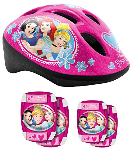 Stamp-K887507 Set de Protection pour vélo, K887507, Pink, Princesses Disney