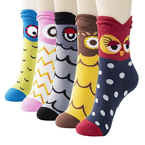 Novelty Owl Crew Socks
