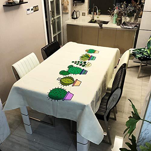 Mantel De Poliéster Impermeable Y Anti-Escaldado Moderno Y Simple, Estera De Mesa De Impresión Digital De Cactus Se Puede Utilizar para Manteles De Varios Manteles