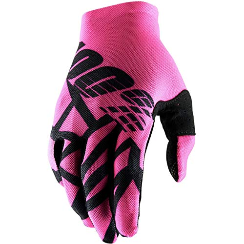 100% Prozent Celium 2 Fahrrad Handschuhe Trail MTB DH MX Mountain Bike Enduro Offroad Moto Cross, HU-GLO-0035, Farbe Pink Schwarz, Größe L