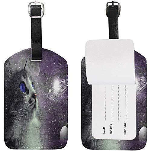 Animal Cat Sistema solare Pianeta Etichette per bagagli Borsa da viaggio Etichetta Valigia 1 Pezzo