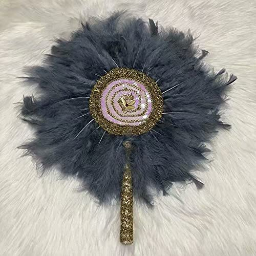 feichang quality assurance Wedding Nashville-Davidson Mall Fan with Feather Sequin Ston Lace Hand