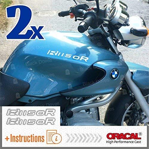 2pcs ADESIVI R1150R compatibile con Motorrad R 1150 R R1150 R VINIL Motorcycle PARASERBATOIO (White Matt)