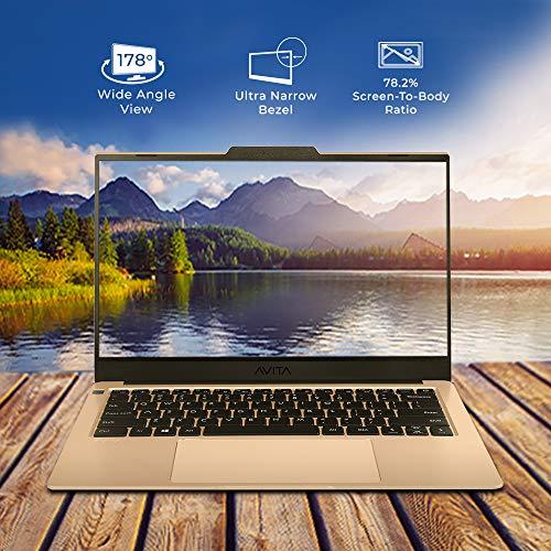 Avita LIBER V NS14A8INF542-CG Thin and Light 14 inch (35.56cm) Laptop( Intel UHD Graphics 620/ 8GB/256GB SSD /Win 10 Home/ Backlit Keyboard/ Fingerprint Sensor/ MSO 365) 1.28kg, Champagne Gold