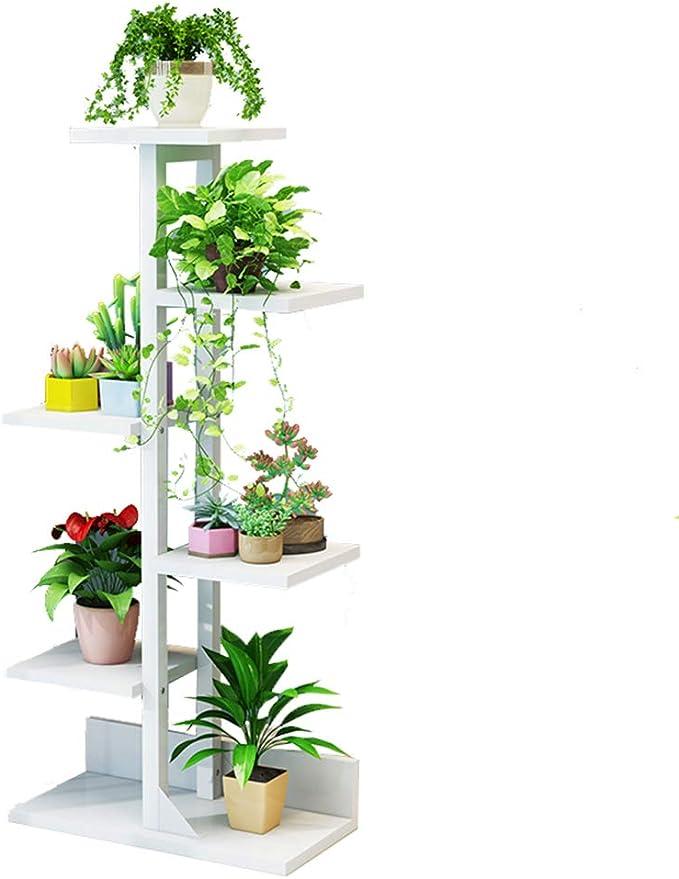 MILISTEN 2 Unids Plantador de Pared Blanca Jardineras Colgantes de Madera Soporte de Planta de Montaje en Pared Escalera para Interior Exterior Jard/ín Vertical Sala de Estar Decoraci/ón de